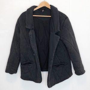 Free People Tawny pillow jacket S distressed black